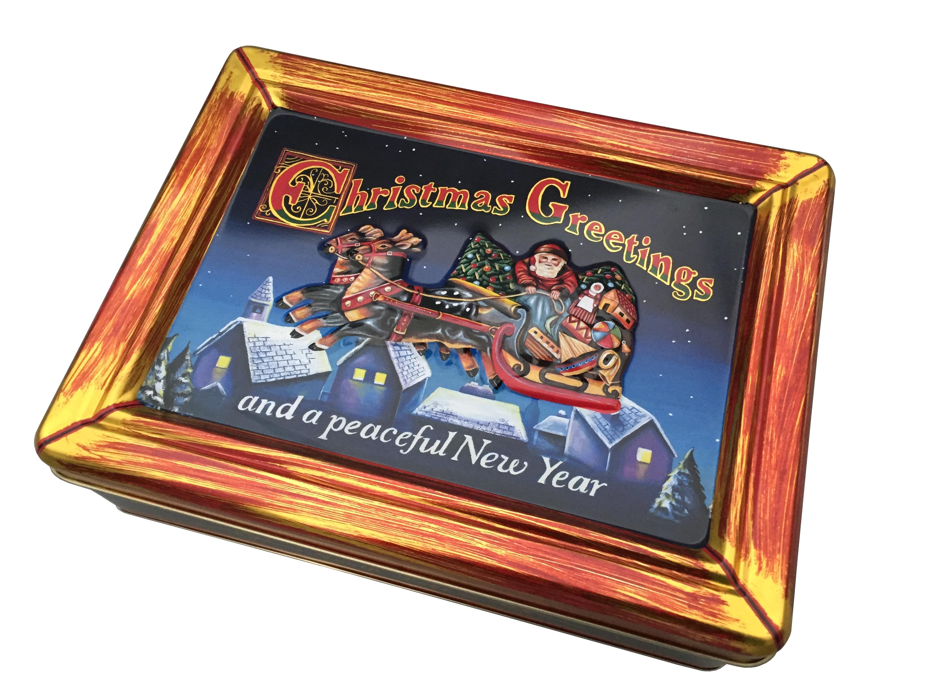 10800 Weihnachtsdose Schlitten