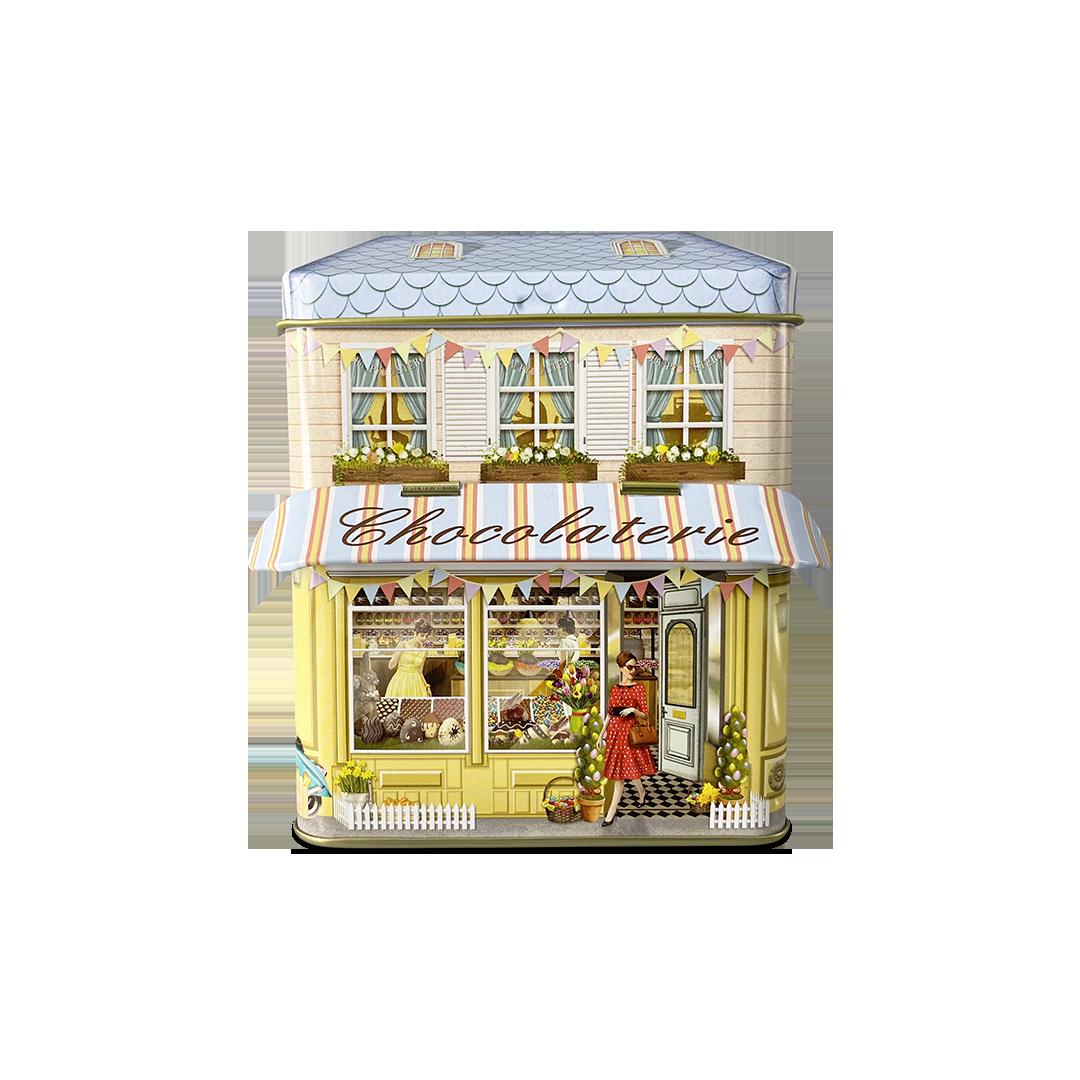"""10618 Kleines Haus mit Vordach """"Chocolaterie"""""""