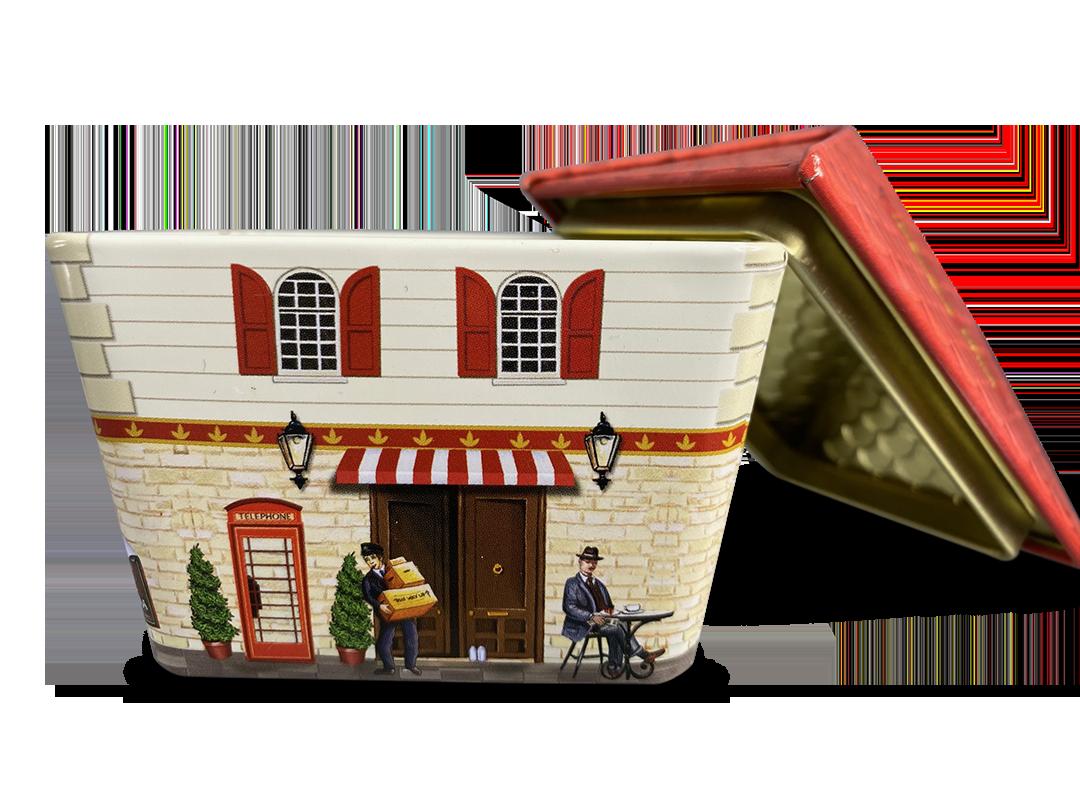 10650 Kl. Haus Chocolate Box rot und grün