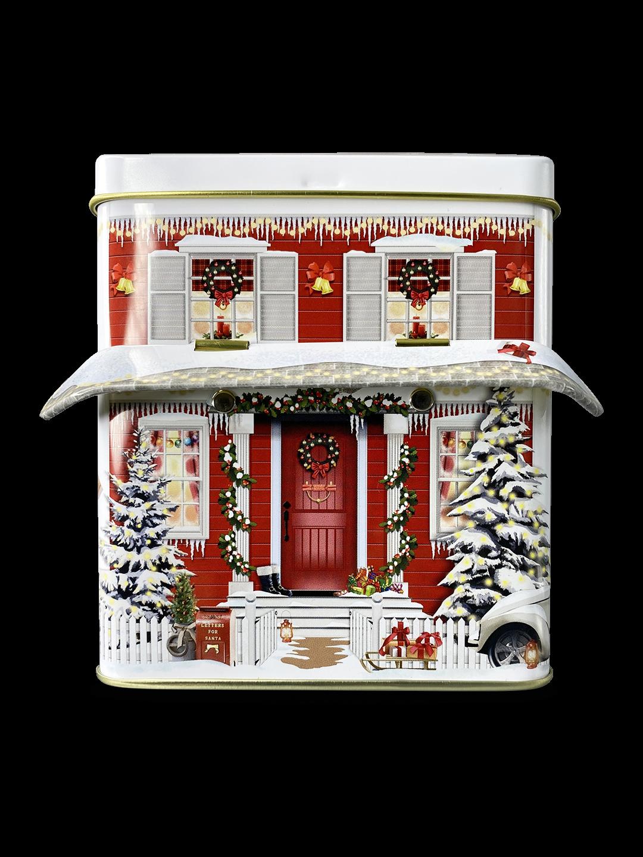 10617 Kleines Haus mit Vordach Winter