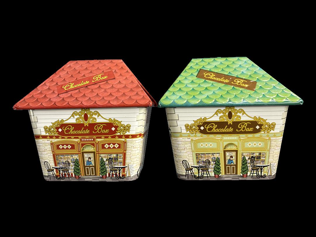 10645 Kl. Haus Chocolate Box rot und grün